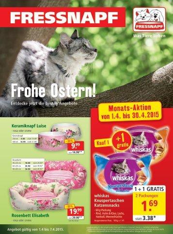 Fressnapf Österreich Flugblatt April 2015
