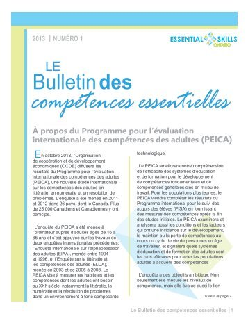 À propos du Programme pour l'évaluation - Essential Skills Ontario