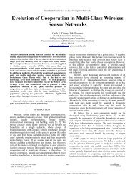 Evolution of Cooperation in Multi-Class Wireless Sensor Networks