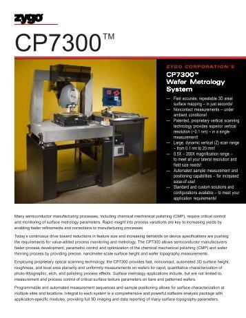 CP7300 Brochure - Zygo Corporation