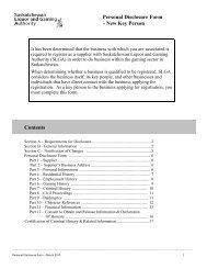 Personal Disclosure Form - Saskatchewan Liquor and Gaming ...