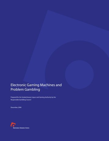 Electronic Gaming Machines and Problem Gambling
