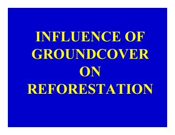 Influence of Herbaceous Groundcover Vegetation on ... - ARRI