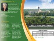 SLGA Annual Highlights 2010.pdf - Saskatchewan Liquor and ...