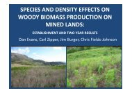 Tree Species and Density Effects on Woody Biomass Production on ...