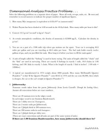 dimensional analysis practice worksheet free worksheets library download and print worksheets. Black Bedroom Furniture Sets. Home Design Ideas