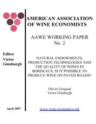 AAWE Working Paper No. 2 - American Association of Wine ...