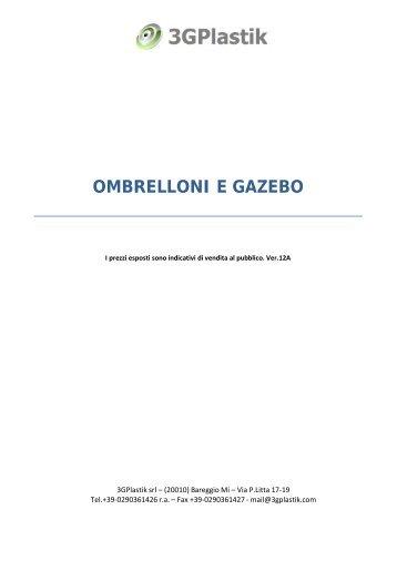 OMBRELLONI E GAZEBO - 3GPlastik