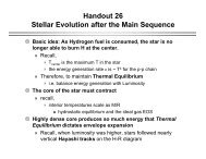 Handout 26 Stellar Evolution after the Main Sequence - Astro Pas ...