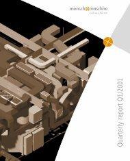 Quarterly report Q1/2001 - Mensch und Maschine