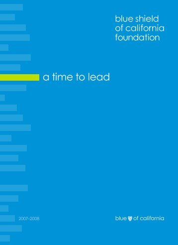 a time to lead - Blue Shield of California Foundation