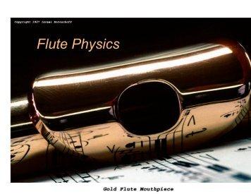 Flute Physics - Astro Pas Rochester