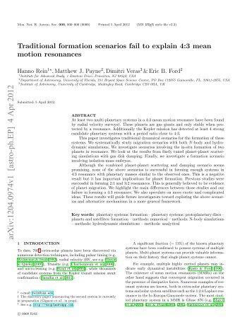 arXiv:1204.0974v1 [astro-ph.EP] 4 Apr 2012 - Astro Pas Rochester