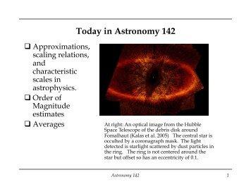 Lecture 1 - Astro Pas Rochester