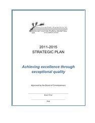 2011-2015 STRATEGIC PLAN Achieving excellence through ...