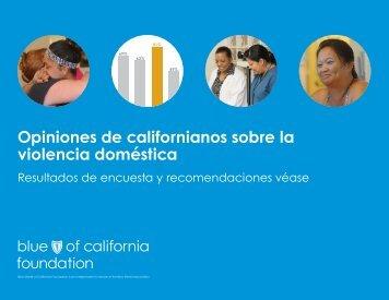 Opiniones de californianos sobre la violencia doméstica