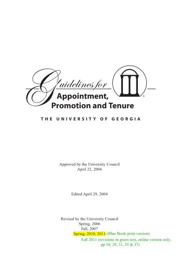Guidelines - Office of the Senior VP for Academic Affairs and Provost