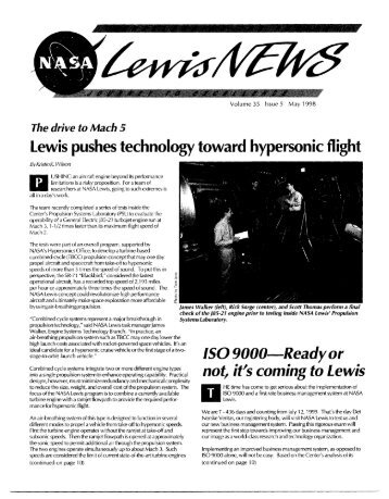 Hypersonics Test in PSL article (1998) - NASA