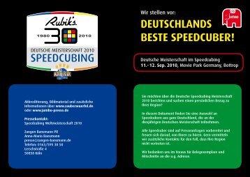 Deutschlands beste Speedcuber - JUMBO Spiele GmbH