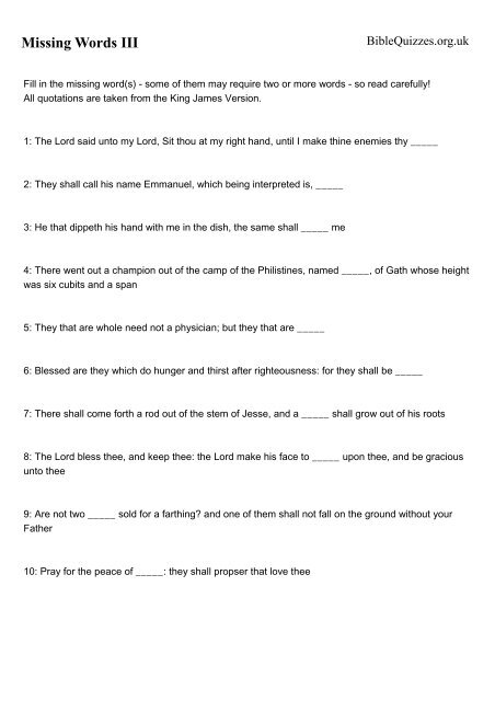 photo relating to Printable Kjv Bible Trivia Questions and Answers named Down load Printable Quiz - Bible Quizzes and Puzzles