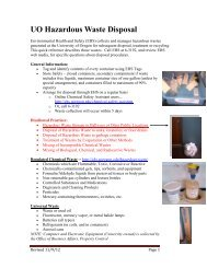 Quick Reference Guide - Environmental Health & Safety - University ...