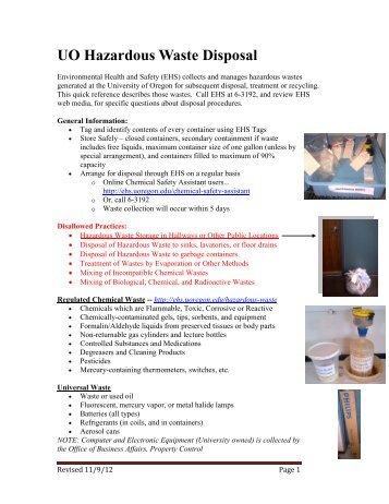 Environmental Health university guide