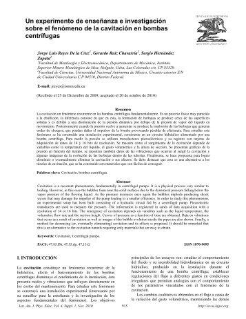 Un experimento de enseñanza e investigación sobre el fenómeno ...