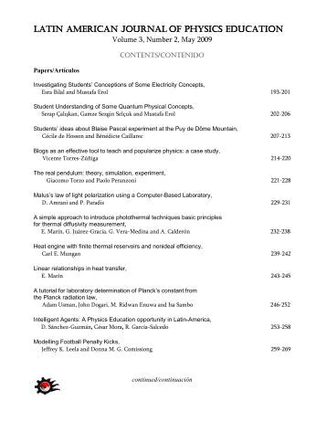 Index [PDF] - Latin-American Journal of Physics Education