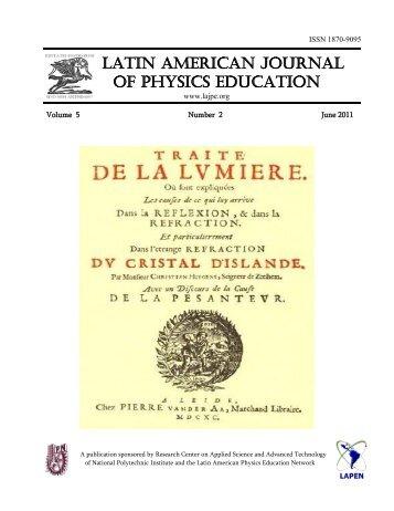 LATIN AMERICAN JOURNAL OF PHYSICS EDUCATION