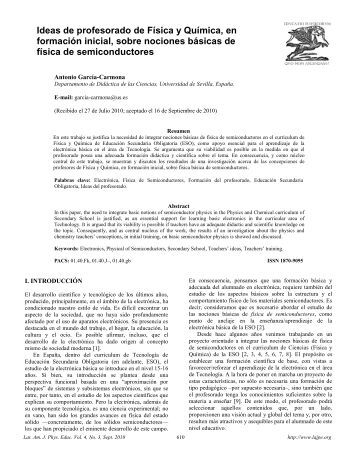 Título (usar minúsculas) - Latin-American Journal of Physics Education