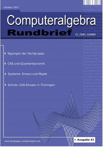 mathemas | ordinate - Fachgruppe Computeralgebra
