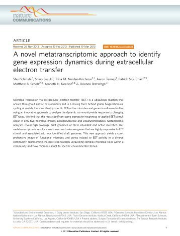 A novel metatranscriptomic approach to identify gene expression ...