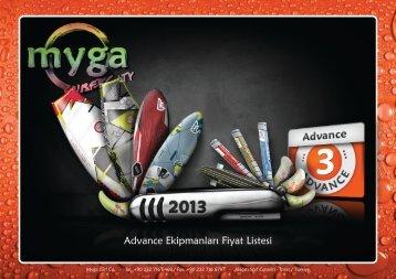 Advance Ekipmanlar Fiyat Listesi - Myga Surf City
