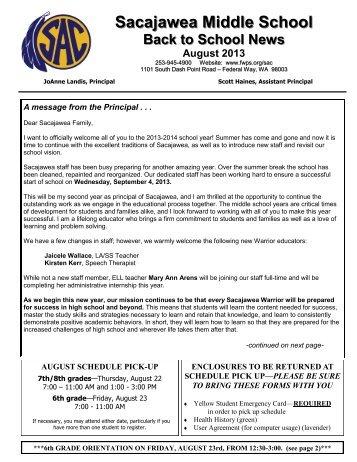 Sacajawea Middle School - School Web Sites - Federal Way Public ...