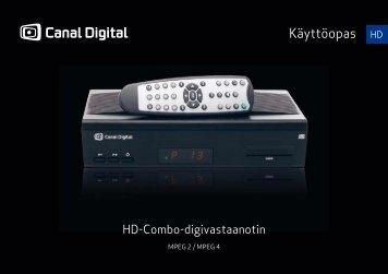 HD-Combo digiboksin käyttöopas - Canal Digital