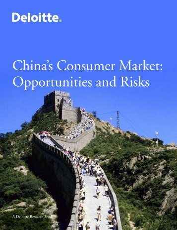 China's Consumer Market: Opportunities and Risks