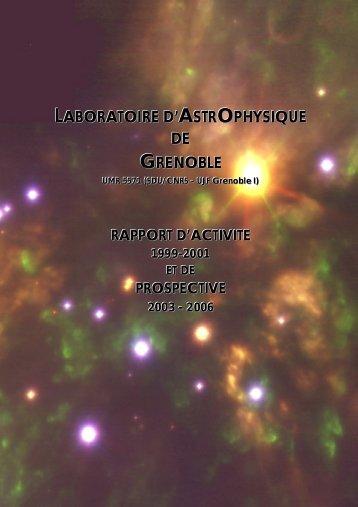 Rapport quadriennal 2002 - Laboratoire d'Astrophysique de l ...