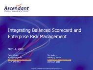 ERM and the Balanced Scorecard - Ascendant Strategy Management Group