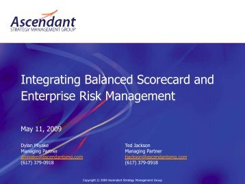 ERM and the Balanced Scorecard - Ascendant Strategy Management Group