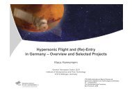 Hypersonic Flight and (Re)-Entry in Germany ... - HobbySpace