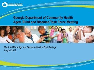 ABD Task Force Presentation - August 7, 2012 - Advocacy