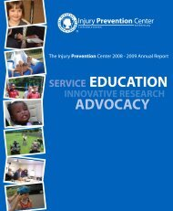 2009 Annual Report - Injury Free Coalition for Kids