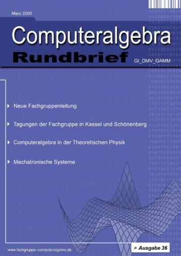 Computeralgebra-Rundbrief - Fachgruppe Computeralgebra