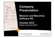 CAD/CAM in practice - Mensch und Maschine