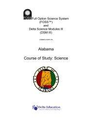 Alabama Course of Study: Science - Delta Education