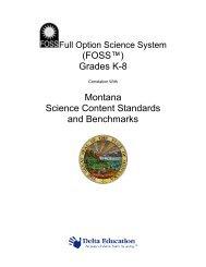 (FOSS™) Grades K-8 Montana Science Content ... - Delta Education