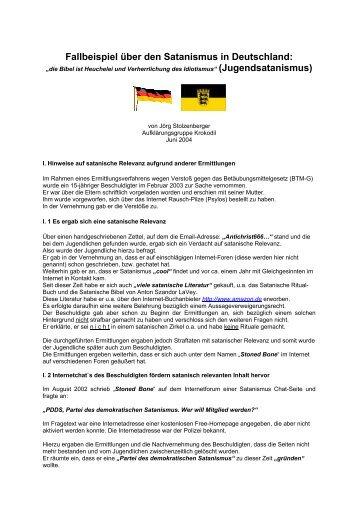 Fallbeispiel über den Satanismus in Deutschland: