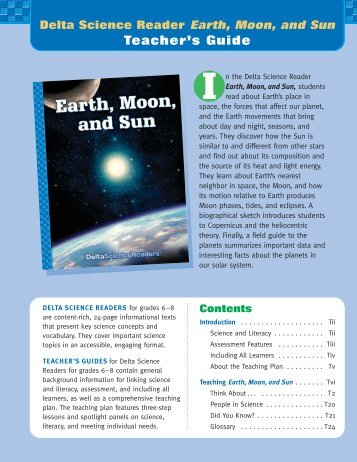 Earth, Moon, Sun - Delta Education