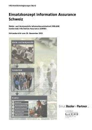 Einsatzkonzept Information Assurance Schweiz (PDF) - ISSS