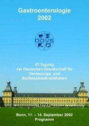 57. DGVS ohne Anzeigen - dgvs2002.de